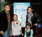 Lopez family Frozen premiere