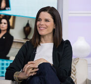 Neve Campbell visiting Today
