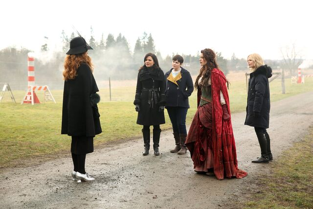 File:Once Upon a Time - 5x18 - Ruby Slippers - Publicity Images - Zelena Vs Regina, Mary Margaret, Ruby and Emma.jpg