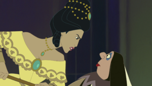 Pocahontas yells Harlequin