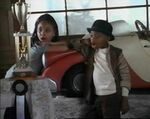 Raven-Symoné with Stymie in The Little Rascals