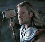 Thor holding Mjolnir