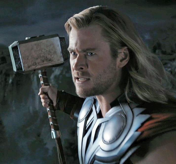 Captain America Holds Mjolnir