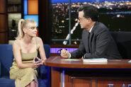 Anna Faris visits Stephen Colbert