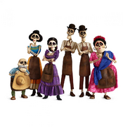 Coco Skeleton Family