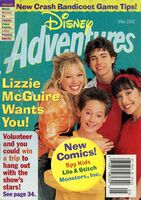 Disney Adventures Magazine cover May 2002 Lizzie McGuire