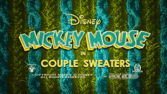 Mickey Mouse Couple's Sweaters title card