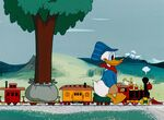Donald in his train