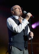Phil Collins performs at Little Dreams Benefit Gala