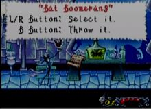 Bat Boomerang NBC The Pumpkin King GBA