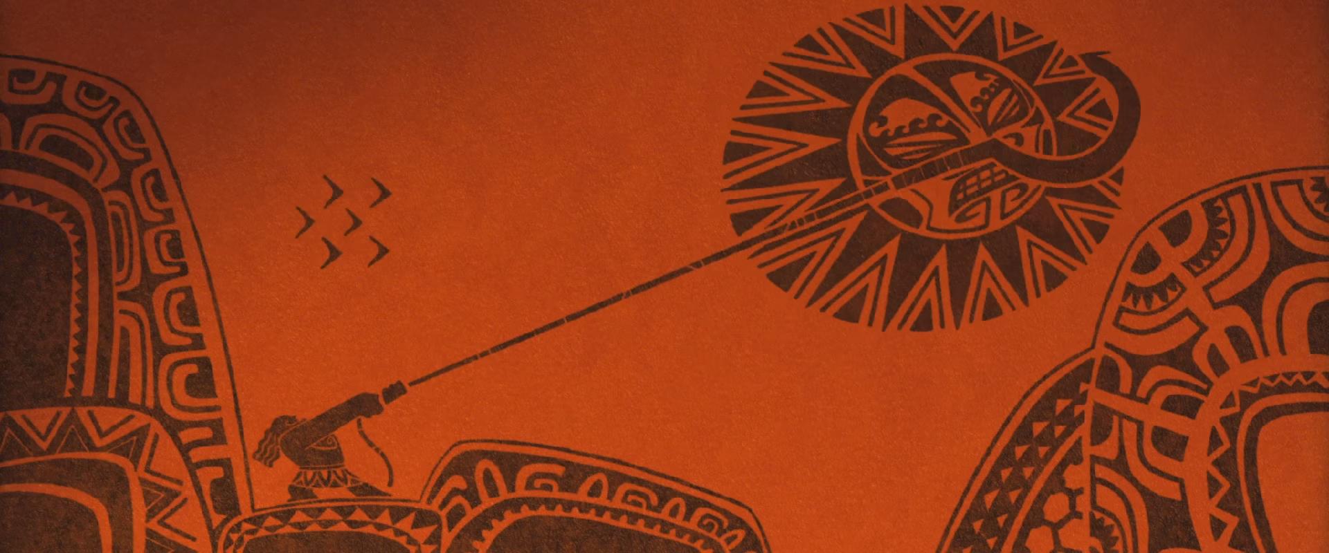 Image moana maui tattoo disney wiki fandom for Maui tattoo stencil