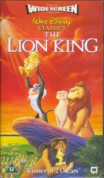 The Lion King (1995 UK Widescreen VHS)
