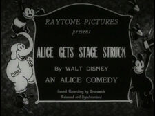 Alice Gets Stage Struck