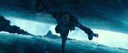 Captain Salazar falls to death