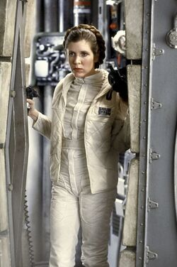 Leia in The Empire Strikes Back