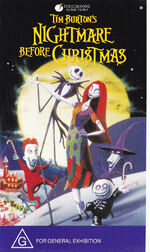 The Nightmare Before Christmas 1995 AUS VHS