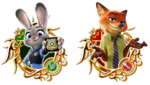 Unchained X Zootopia Medals