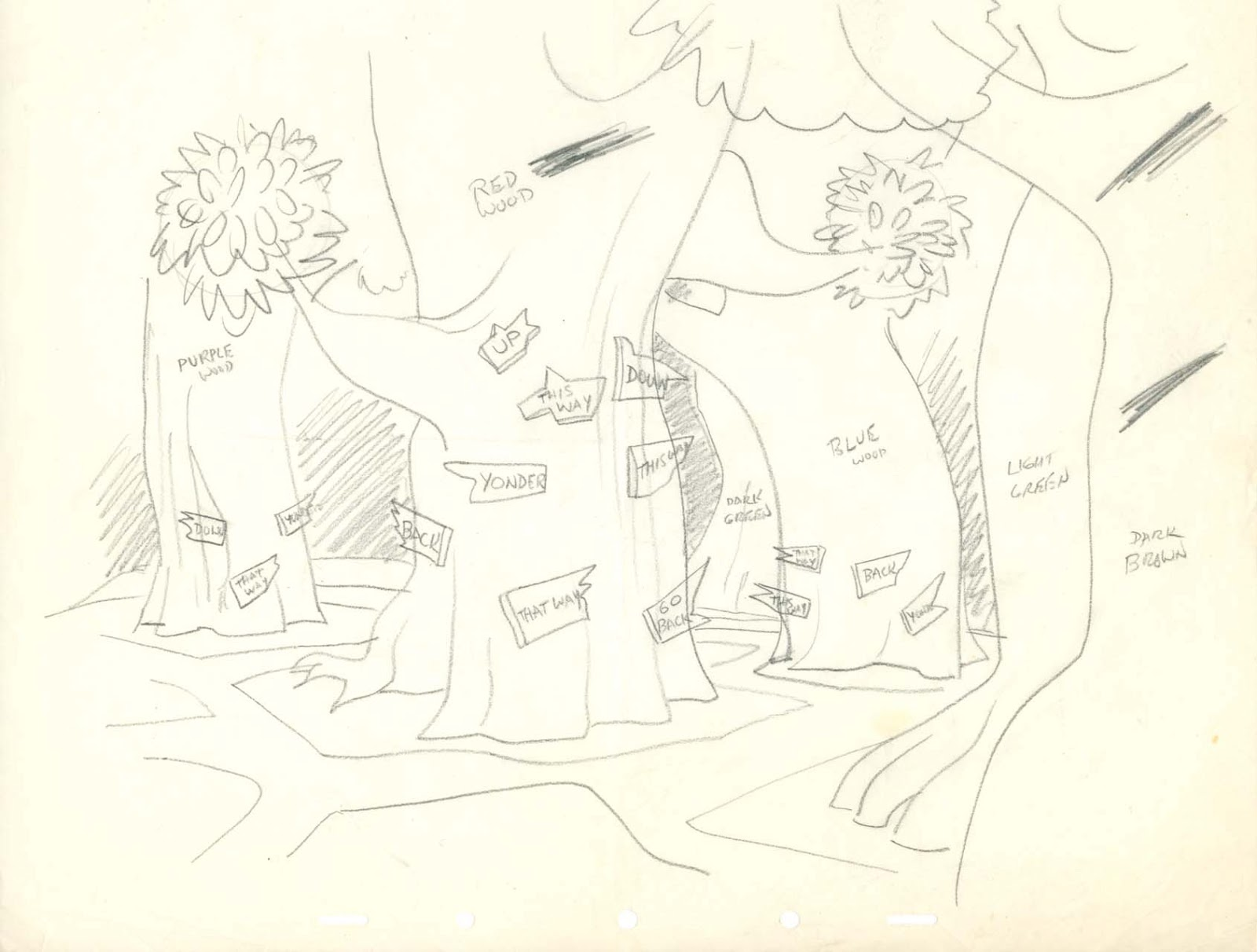 Line Drawing Wiki : Image field drawing tulgey wood layout g