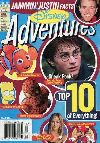 File:Disney Adventures Magazine cover March 2004 Top 10.jpg