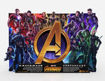Avengers Infinity War theater standee