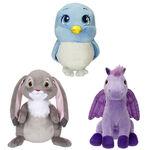 Clover, Mia and Minimus plush toys