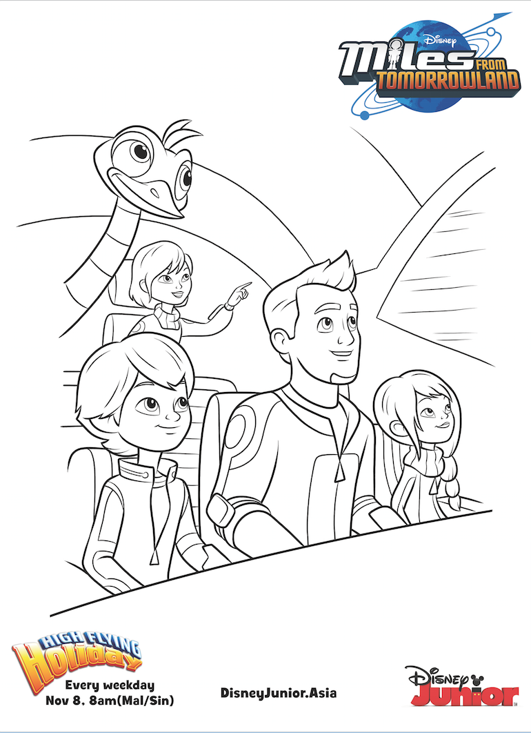 image miles from tomorrowland colouring pages 3 png disney