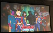 Vision, Captain Marvel, Ms. Marvel, Black Panther, Wasp and Ant-Man in Avengers Secret Wars