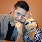 George Stroumboulopoulos and Piggy March 2014