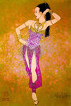 Aladdin Broadway Costume Concept Art Harem Girl