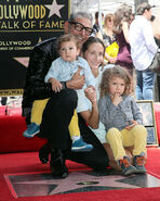 Jeff Goldblum and fam at Walk of Fame ceremony
