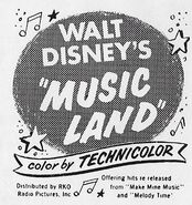 Music Land newspaper ad