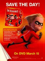 The Incredibles DVD release print ad Nick Mag March 2005
