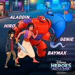 Aladdin, Big Hero 6 DHBM