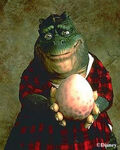 Earl Sinclair with his Egg
