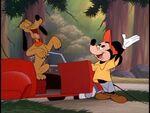 Mickey introducing pluto to utopia