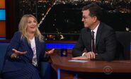 Drew Barrymore visits Stephen Colbert