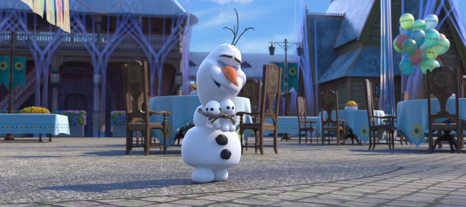 Olaf With The Snowgies In Frozen Fever.