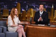 Lindsay Lohan visits Jimmy Fallon