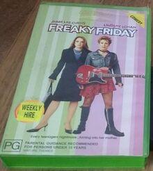 Freaky Friday Remake 2004 AUS Rental VHS
