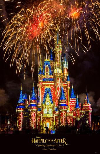 Happily Ever After Show De Fuegos Artificiales Disney