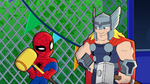 Spider-Man and Thor in Marvel Super Hero Adventures