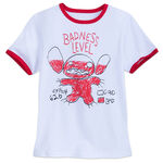 Stitch Badness Level Ringer T-Shirt for Boys
