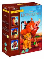 The Lion King Box Set 1-3 2011 UK DVD