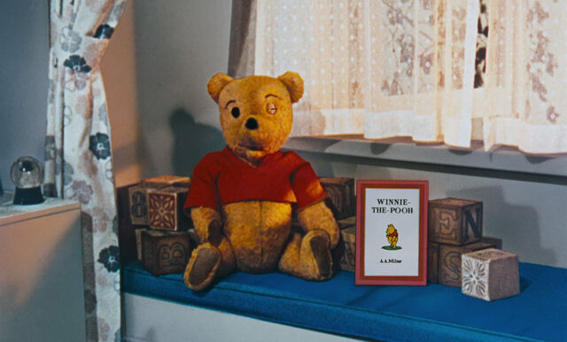 File:Winnie the Pooh is a real stuffed bear who winked at us.jpg