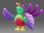 Blodger bird shape concept