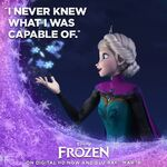 I Never Knew What I Was Capable Of Frozen Poster