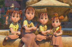Las cuatro niñas