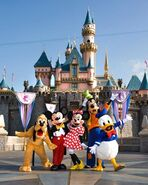 Resized Disneyland Resort Castle and Characters