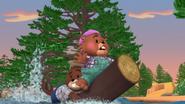 Built-in beaver paddles