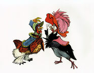 Chanticleer Two Hens (2)